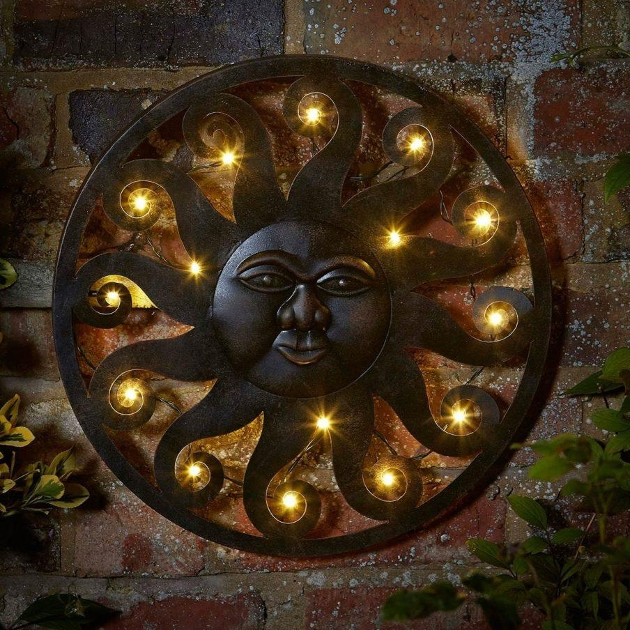 Outstanding Sun Face Metal Outdoor Wall Art Outdoor Wall Decor Sun With Regard To Decorative Outdoor Metal Wall Art (View 15 of 20)