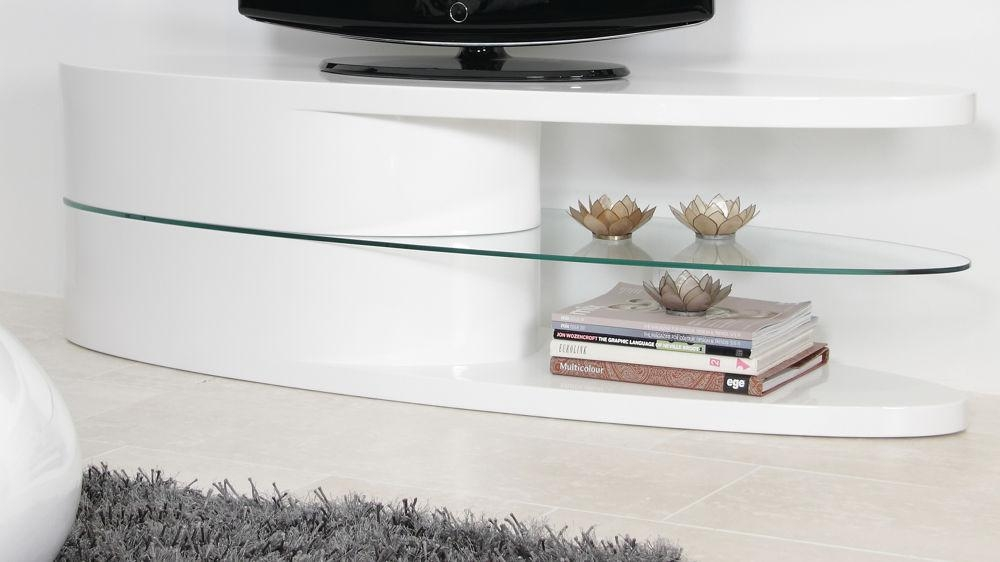 Featured Image of White Gloss Oval Tv Stands