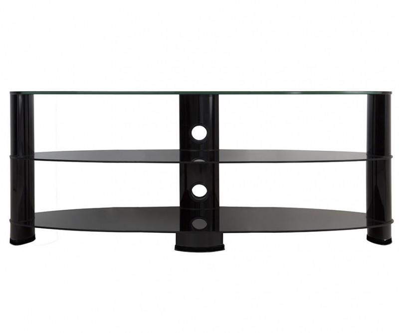 Ovl1400Bb: Reflections – Oval Glass Tv Stand – Tv Stands Intended For Most Up To Date Oval Glass Tv Stands (Image 14 of 20)