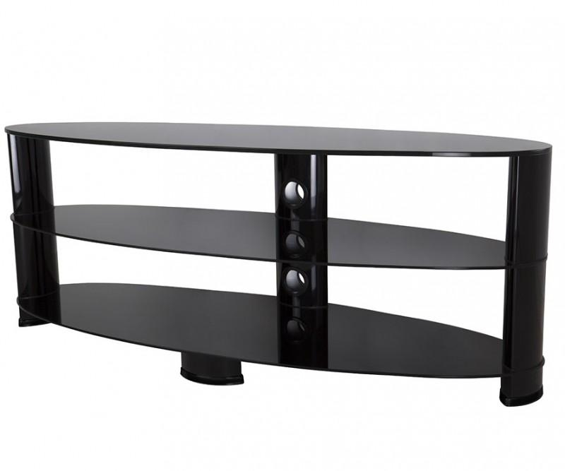 Ovl1400Bb: Reflections – Oval Glass Tv Stand – Tv Stands With Regard To Most Up To Date Oval Glass Tv Stands (Image 15 of 20)
