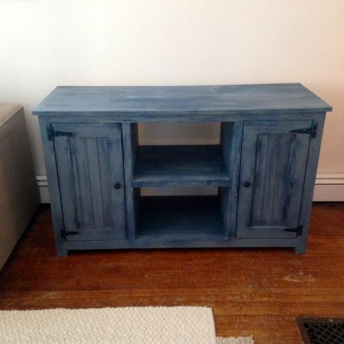 Painted Tv Stand | Forget Them Not Home Decor For Current Blue Tv Stands (View 10 of 20)