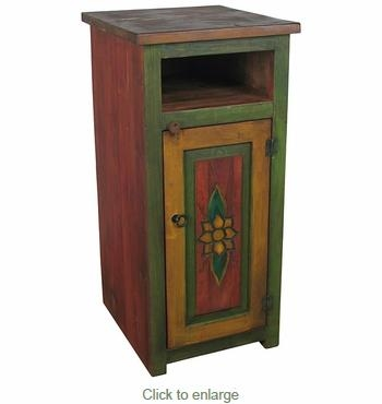 Painted Wood Skinny Tv Stand Pertaining To Recent Tall Skinny Tv Stands (View 9 of 20)
