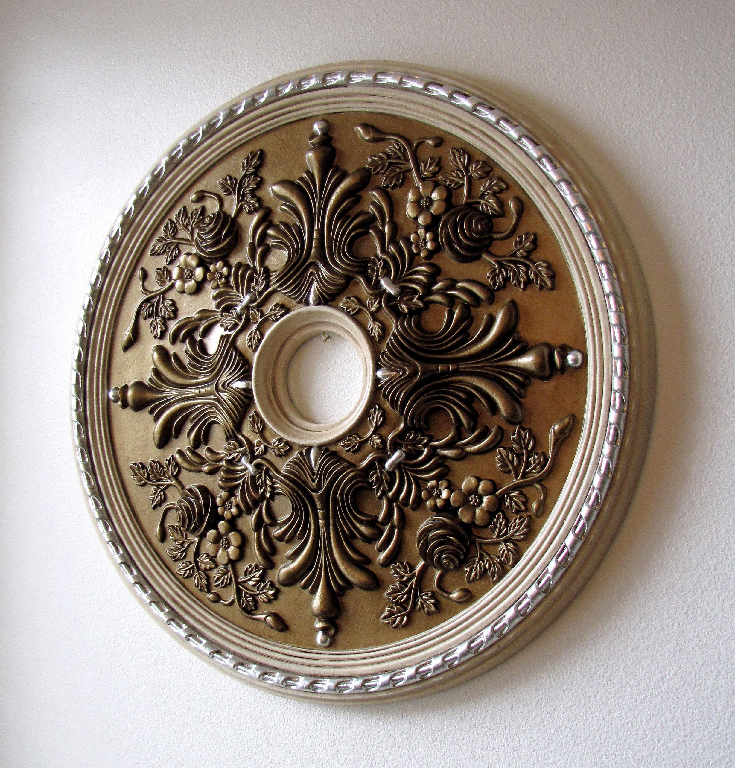 Painting A Ceiling Medallion Youtube Regarding Wall Art Excellent For Medallion Tiles Wall Art (Image 7 of 20)
