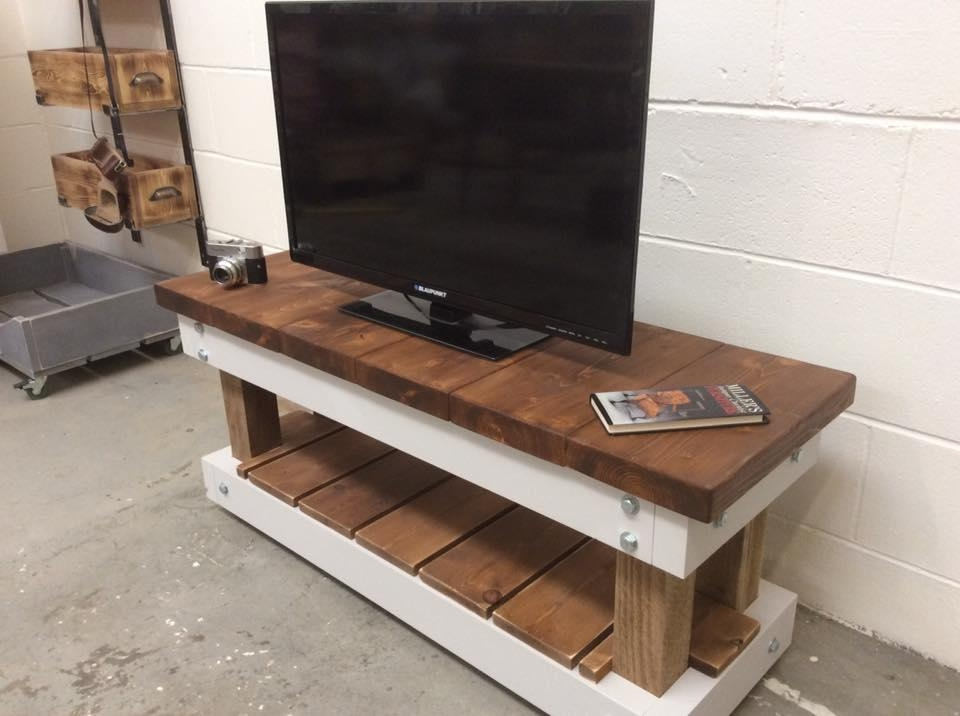 Pallet Tv Stand / Pallet Media Console | Diy And Crafts Within Most Recent Single Tv Stands (Image 9 of 20)