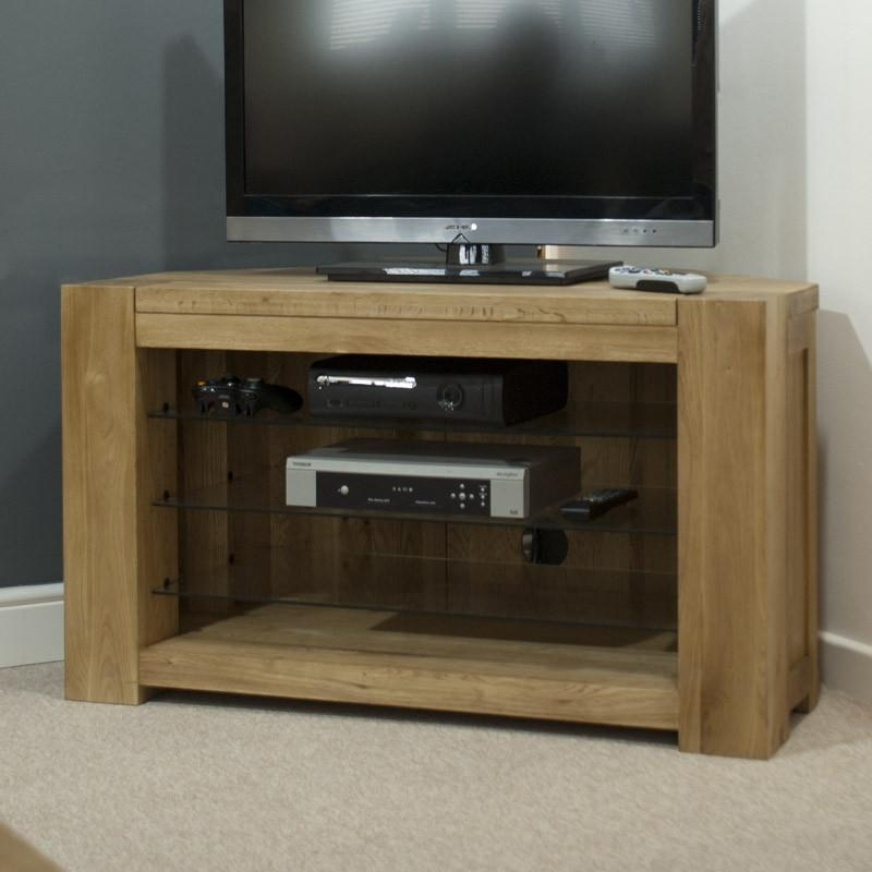 Pandora Solid Oak Corner Tv Cabinet – Oak Furniturehouse Of Oak With Recent Corner Wooden Tv Cabinets (Image 15 of 20)