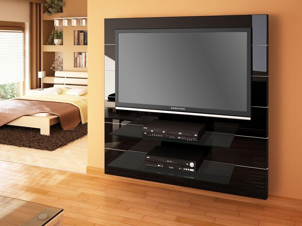 Panorama Black High Gloss Tv Cabinet | Modern Tv Stands For Most Up To Date High Gloss Tv Bench (Image 11 of 20)