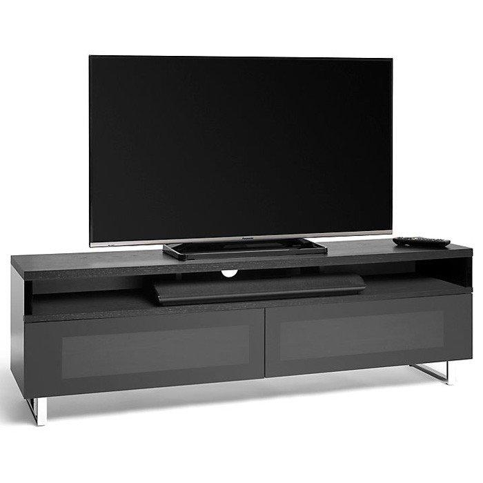 Panorama Pm160+ Black Oak And Piano Gloss Black Tv Cabinet (406425) With Regard To 2017 Techlink Tv Stands (View 9 of 20)