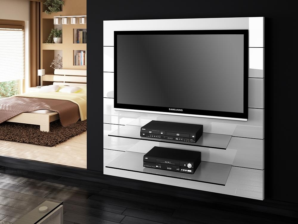 Panorama White Gloss Tv Stands | Modern Tv Stands Pertaining To Latest Panorama Tv Stands (Image 16 of 20)