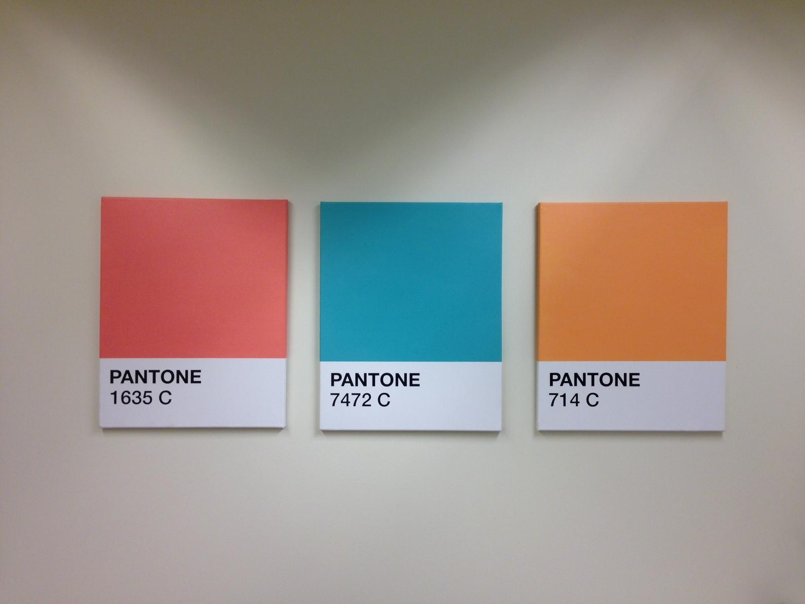 Beau Pantone Canvas Wall Art Color Swatches | The Rodimels Family Blog Regarding Wall  Art For Office