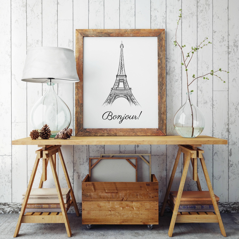 Paris Wall Art, Black And White Art, Paris Art Work, Minimalist Regarding Parisian Wall Art (Image 12 of 20)