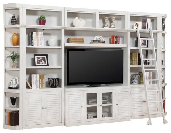 Parker House, Boca Library Wall Entertainment Center Bookcase With Regard To Most Up To Date Tv Stands With Bookcases (Image 11 of 20)