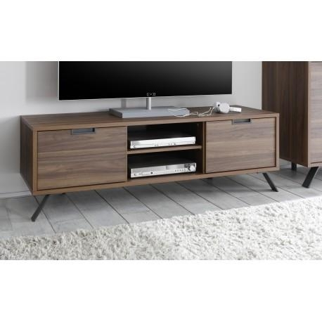 Parma Dark Walnut Tv Stand – Tv Stands – Sena Home Furniture For Most Up To Date Walnut Tv Cabinets With Doors (Image 16 of 20)