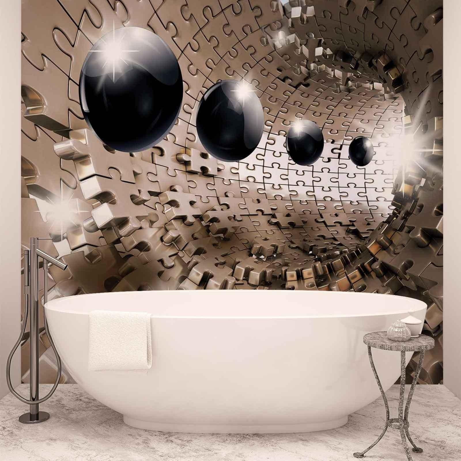 Pattern Balls Puzzle Abstract Modern 3D Photo Wallpaper Mural Within Abstract Art Wall Murals (View 4 of 20)