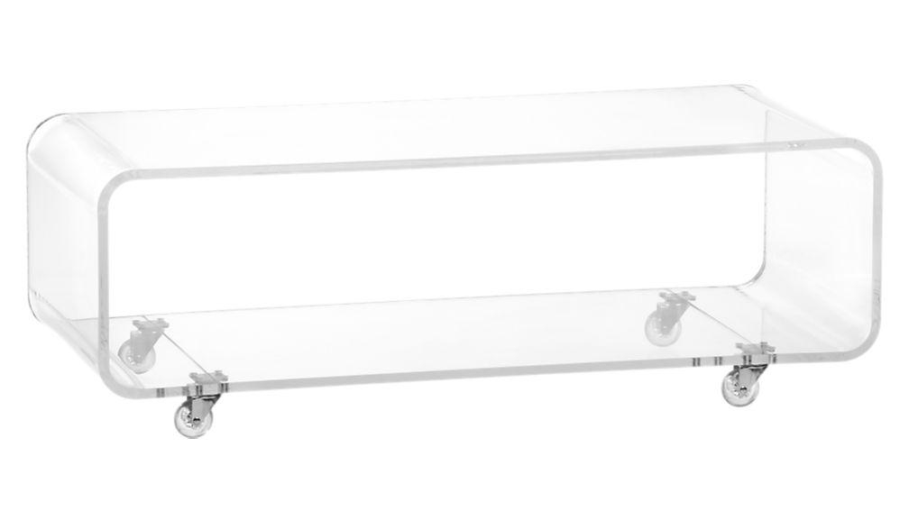 Peekaboo Acrylic Media Console | Cb2 Pertaining To Latest Clear Acrylic Tv Stands (Image 15 of 20)