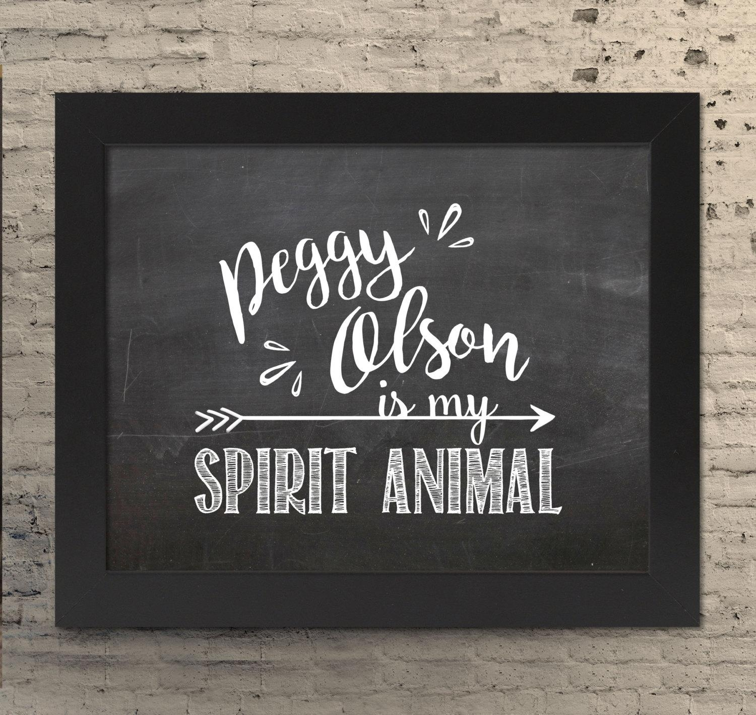 Peggy Olson Is My Spirit Animal Mad Men Wall Art Mad Men Throughout Mad Men Wall Art (Image 16 of 20)