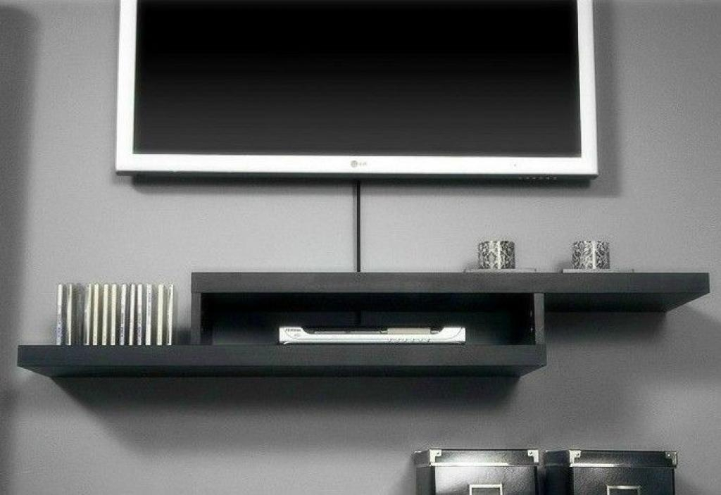 Perfect Shelves For Wall Mount Tv Inspirations | Interior Decoration In Most Current Shelves For Tvs On The Wall (Image 14 of 20)