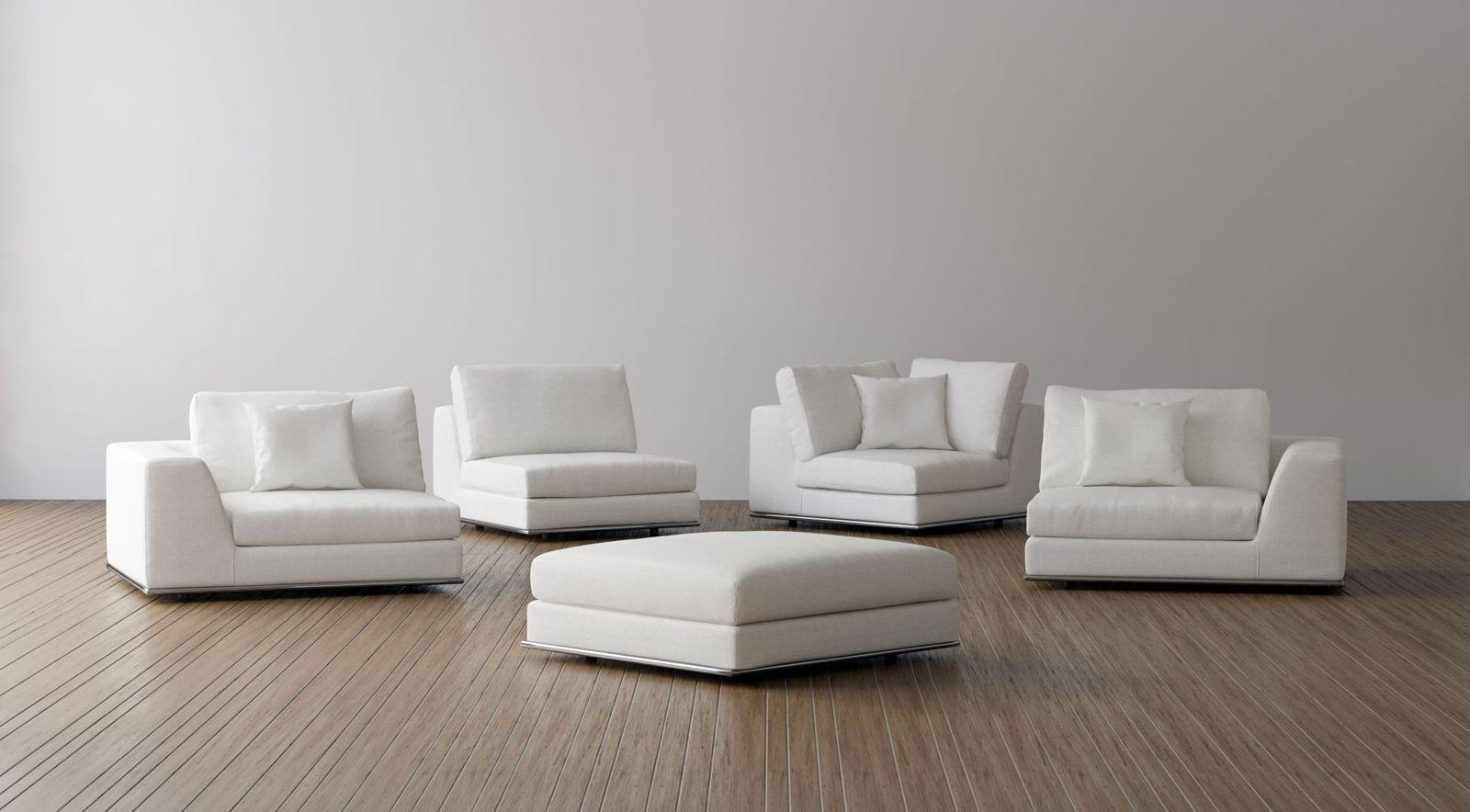 Perry Preconfigured Three Seat Sofa With Ottomanmodloft Inside Mod Sofas (View 3 of 20)