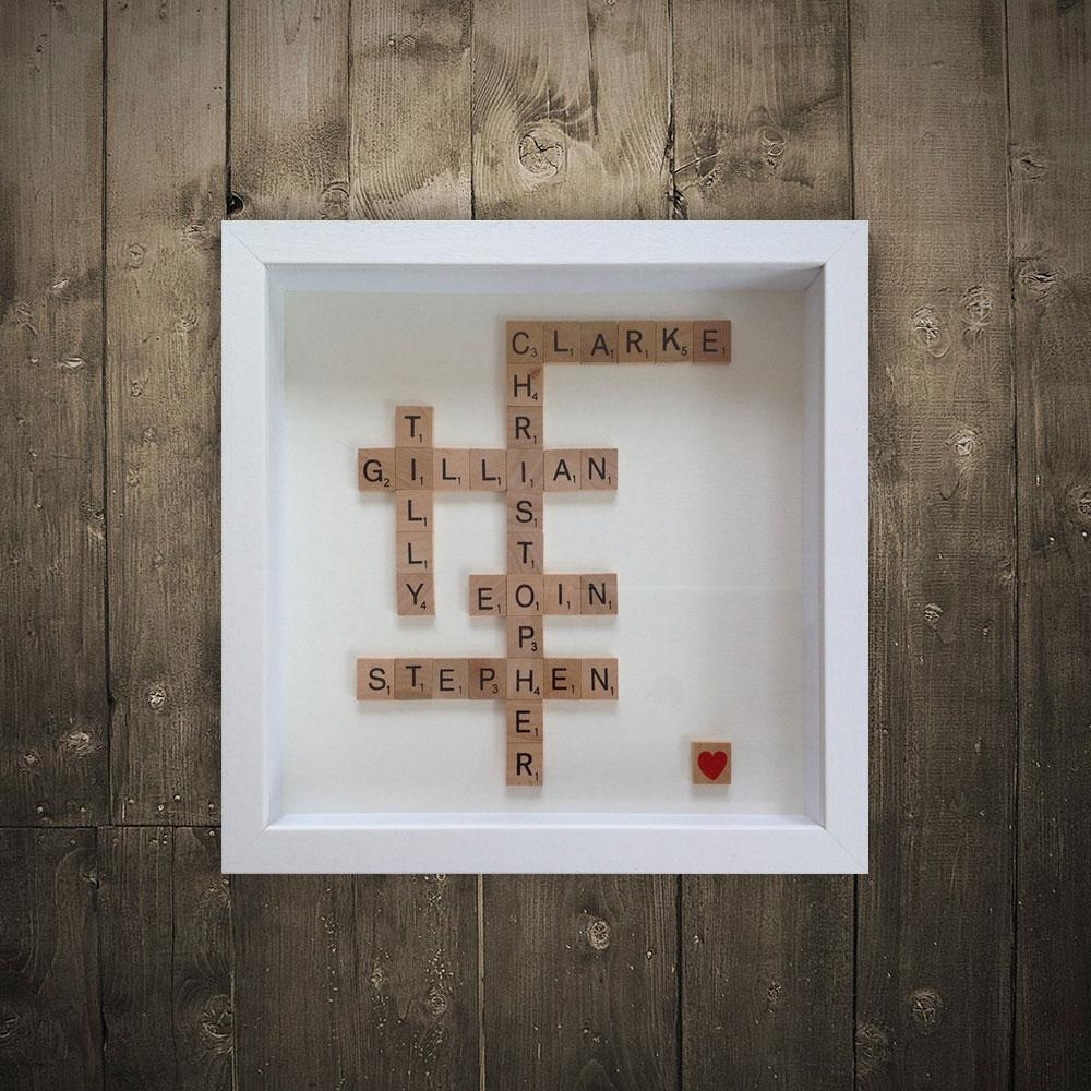 Personalised Scrabble Art | Irish Wall Artwordbird (Image 9 of 20)