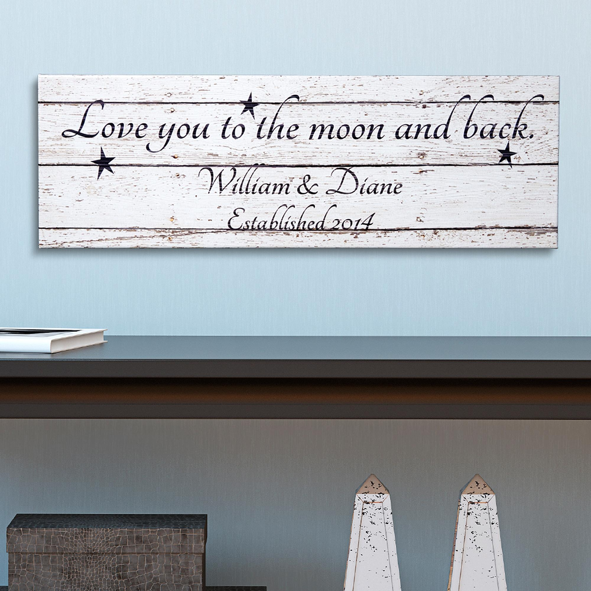 Personalized Canvas Wall Art – Walmart Intended For Love You To The Moon And Back Wall Art (Image 15 of 20)