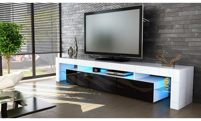 Peru High Gloss Tv Cabinets | Groupon Goods For Latest High Gloss Tv Cabinets (Image 14 of 20)