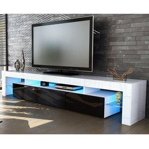 Peru Plasma Lcd Led Tv Display Entertainment Unit Black Drawers With Regard To 2017 Tv Entertainment Unit (Image 13 of 20)