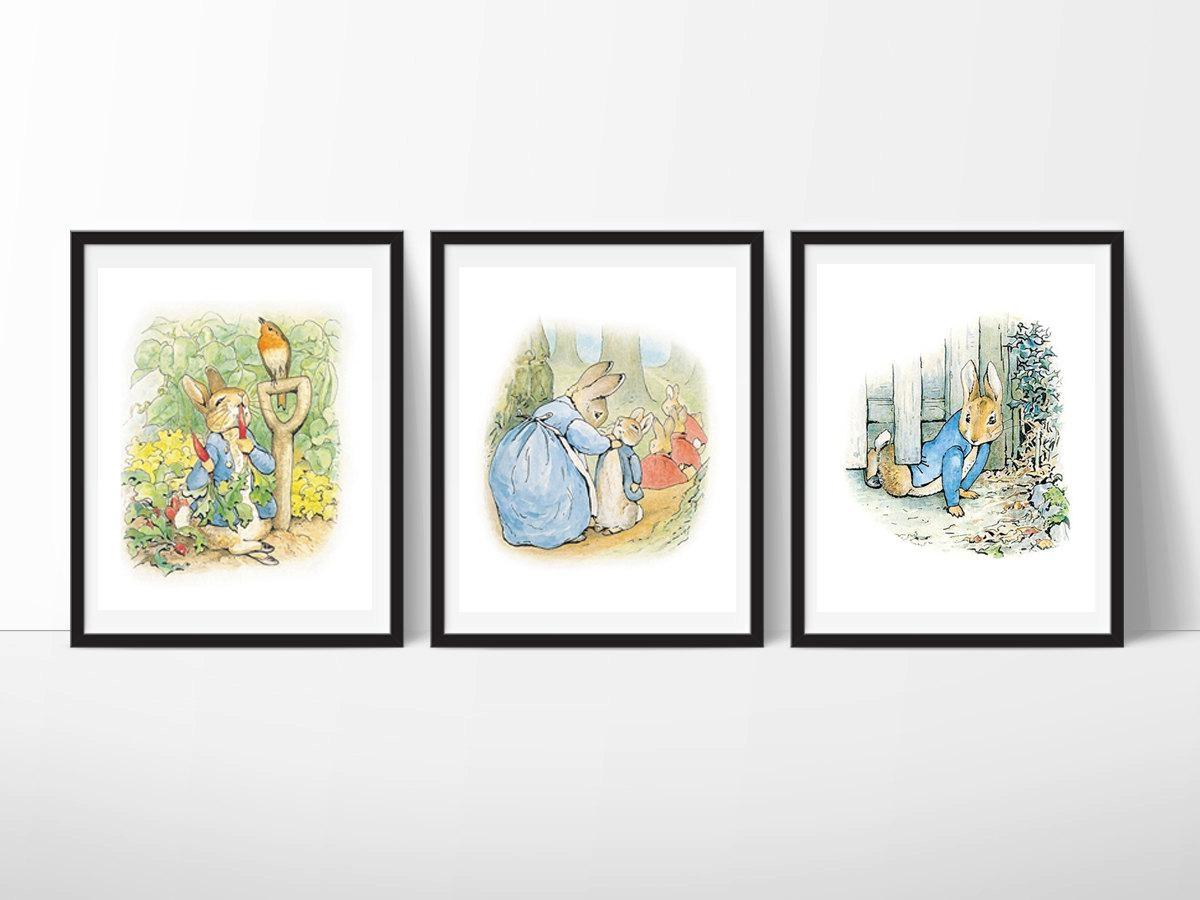 Peter Rabbit Nursery Art Beatrix Potter Nursery Decor Peter In Peter Rabbit Nursery Wall Art (View 11 of 20)