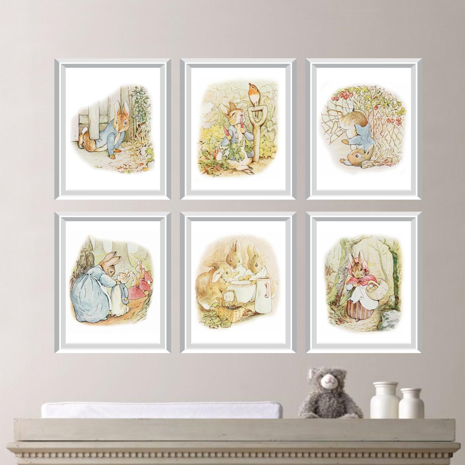 Peter Rabbit Nursery Decor. Baby Nursery Print Art (Image 6 of 20)