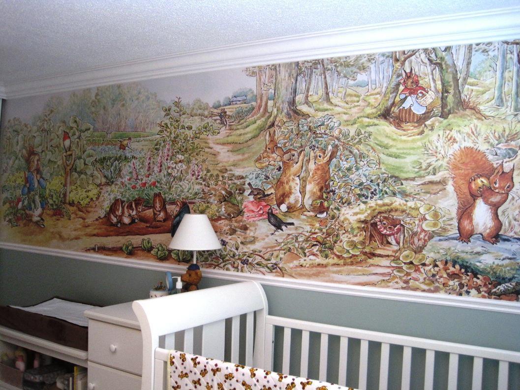 Peter Rabbit Nursery — Modern Home Interiors Throughout Peter Rabbit Nursery Wall Art (View 15 of 20)