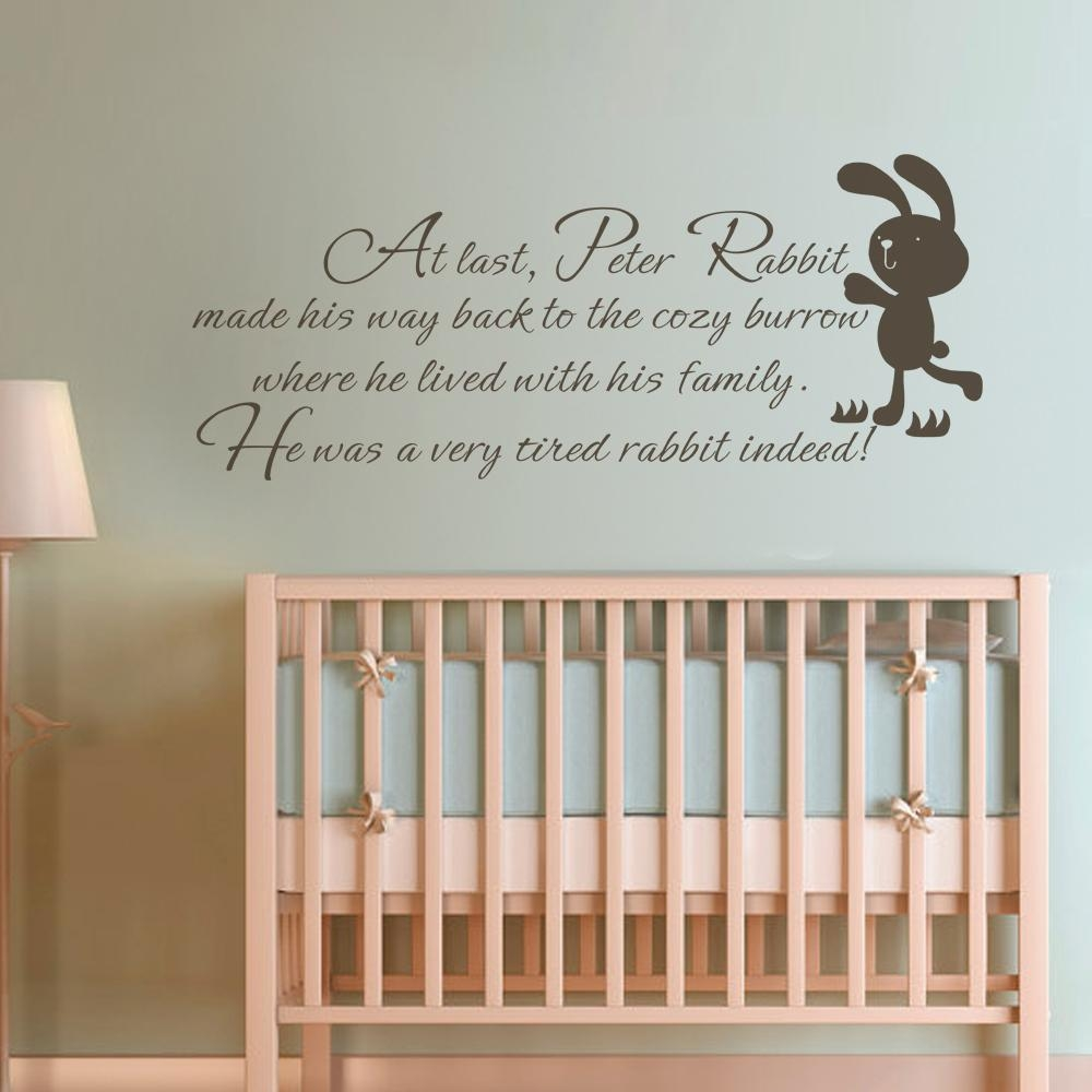 Peter Rabbit Nursery Wall Stickers | Xtreme Wheelz With Peter Rabbit Nursery Wall Art (Image 17 of 20)