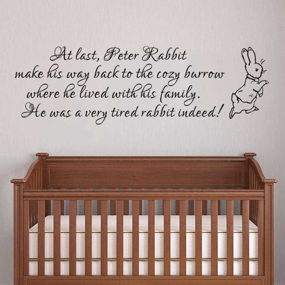 Peter Rabbit Wall Decal Baby Nursery Wall Sticker Vinyl Lettering Inside For This Child I Prayed Wall Art (Image 18 of 20)
