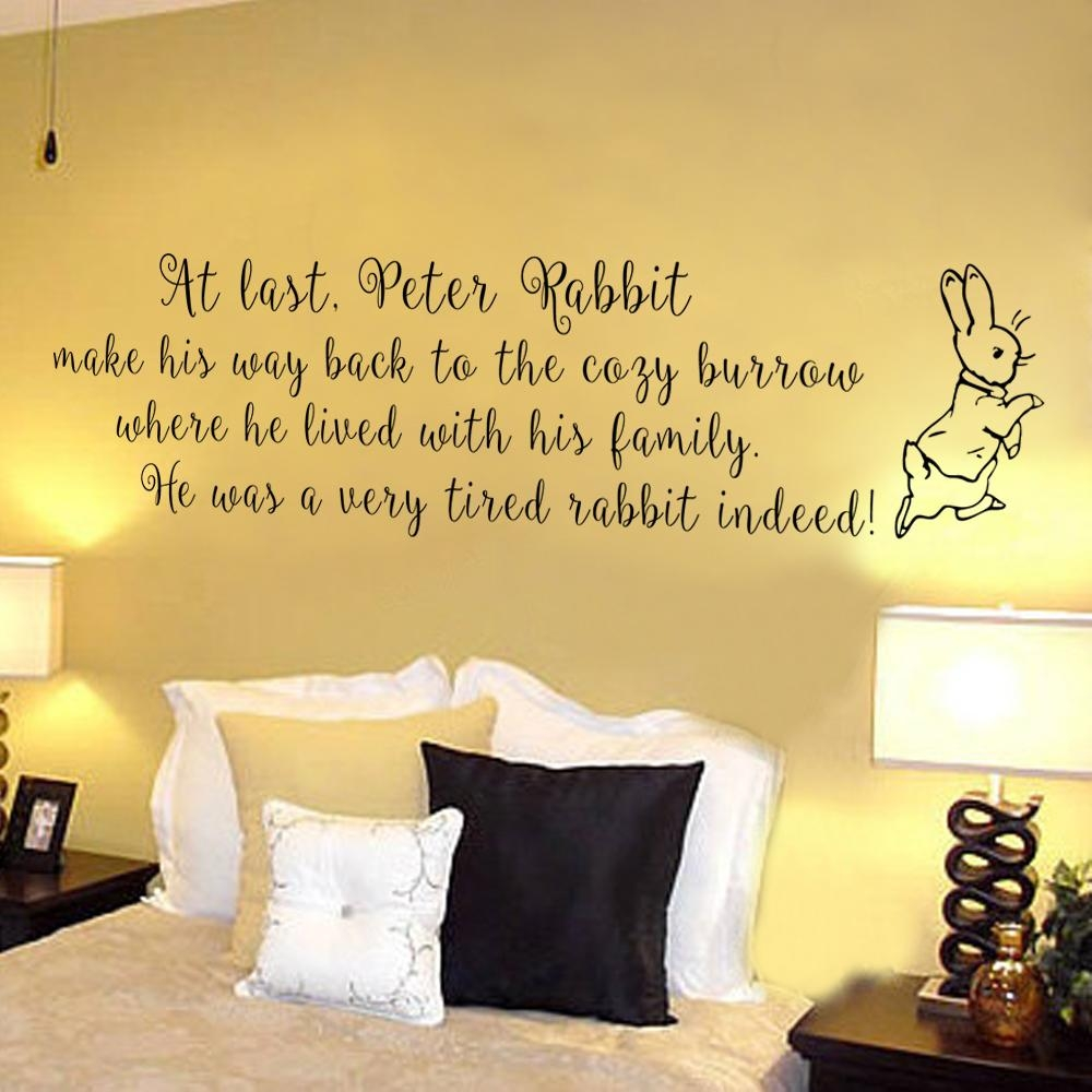 Wall Art Ideas: Peter Rabbit Nursery Wall Art (Explore #10 of 20 Photos)