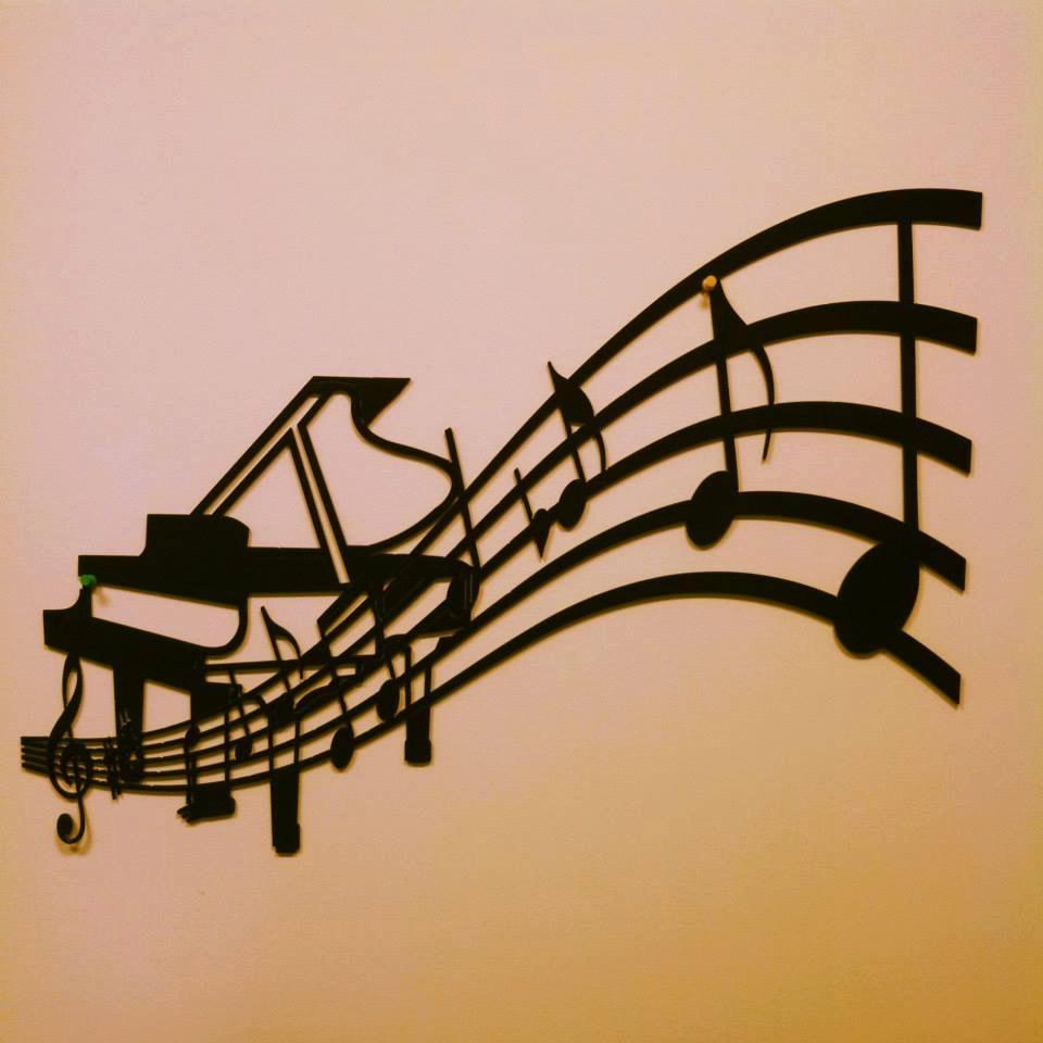 Piano And Sheet Music Metal Wall Art In Sheet Metal Wall Art (View 4 of 20)
