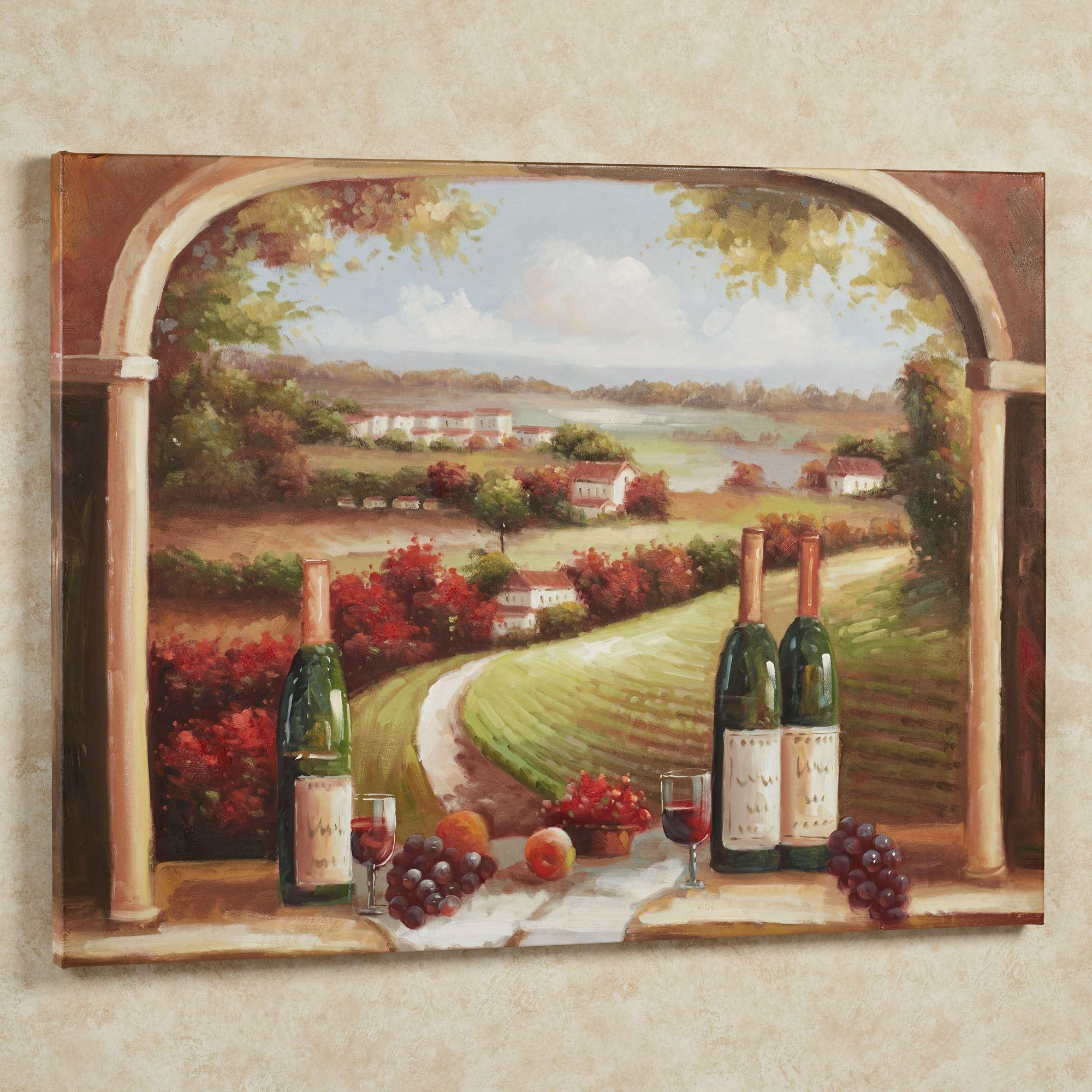 Picnic In Sonoma Canvas Wall Art With Regard To Wine And Grape Wall Art (Image 12 of 20)