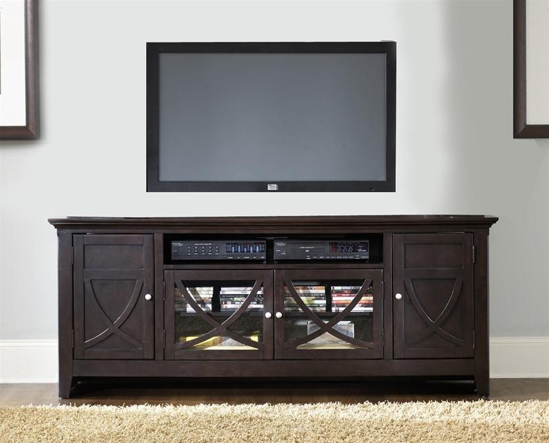 Piedmont 75 Inch Tv Stand In Dark Mocha Finishliberty In Most Recently Released Dark Tv Stands (View 6 of 20)