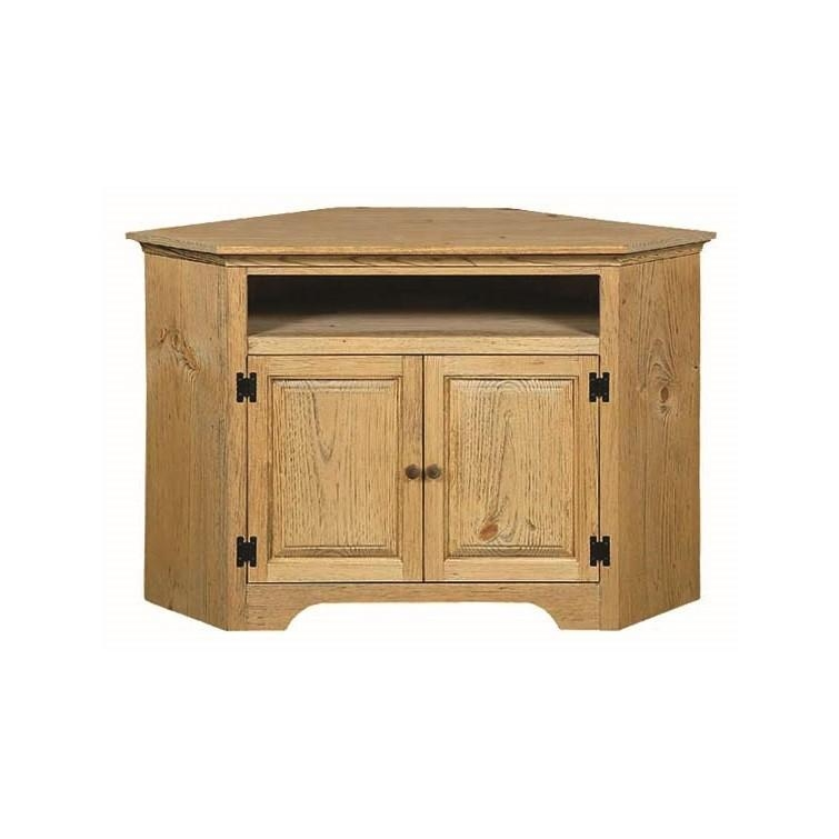 Pine Small Corner Tv Stand With Opening | Amish Pine Small Corner Within Most Up To Date Pine Corner Tv Stands (View 1 of 20)
