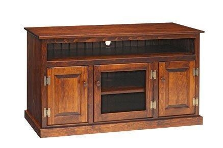 Pine Wood Tv Stand For Most Recent Wooden Tv Stands With Doors (View 3 of 20)
