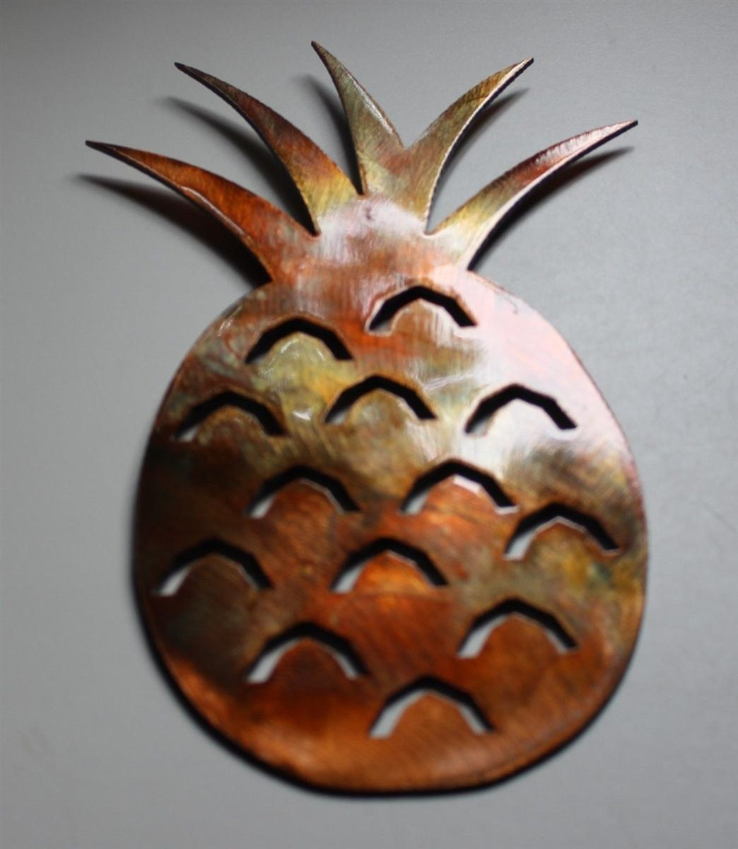 Pineapple Metal Wall Art Throughout Pineapple Metal Wall Art (Image 14 of 20)