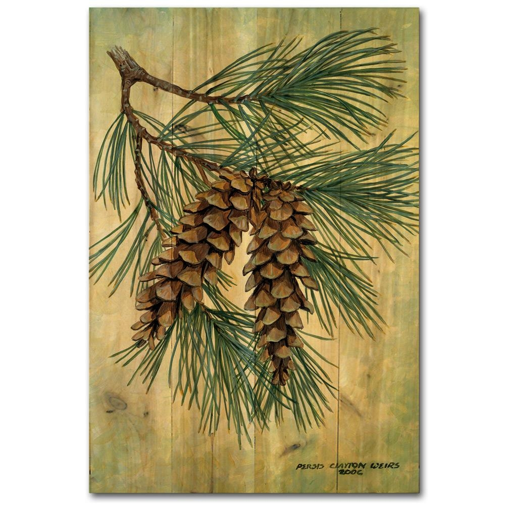 Pinecone Decor Throughout Pine Cone Wall Art (Image 16 of 20)