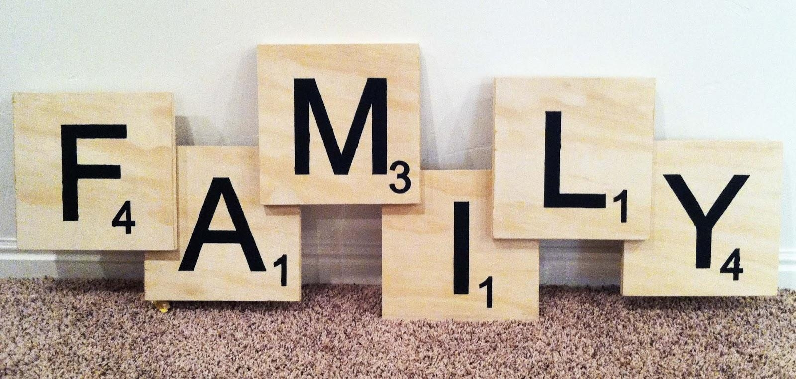Pinheather Olsen Malpass On Family Wall Ideas | Pinterest Throughout Scrabble Letters Wall Art (Image 12 of 20)