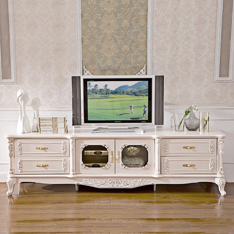 Pinkish/white Painted French Style Bedroom Sets And Country Style Regarding Most Recently Released French Country Tv Stands (Image 11 of 20)