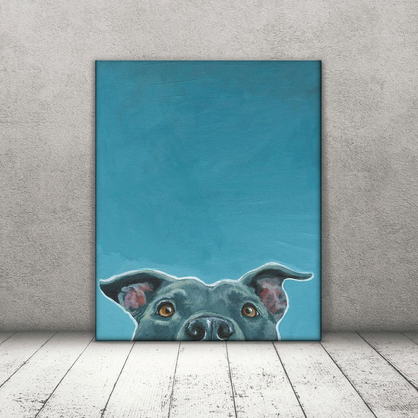 Pit Bull Art Pit Bull Print Amstaff Art Pitbull Canvas In Pitbull Wall Art (View 10 of 20)