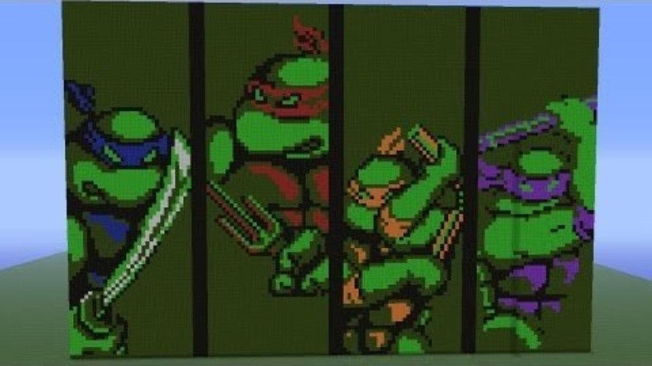 Pixel Art Showcase: Tmnt Turtle Wall – Video Dailymotion For Tmnt Wall Art (Image 14 of 20)