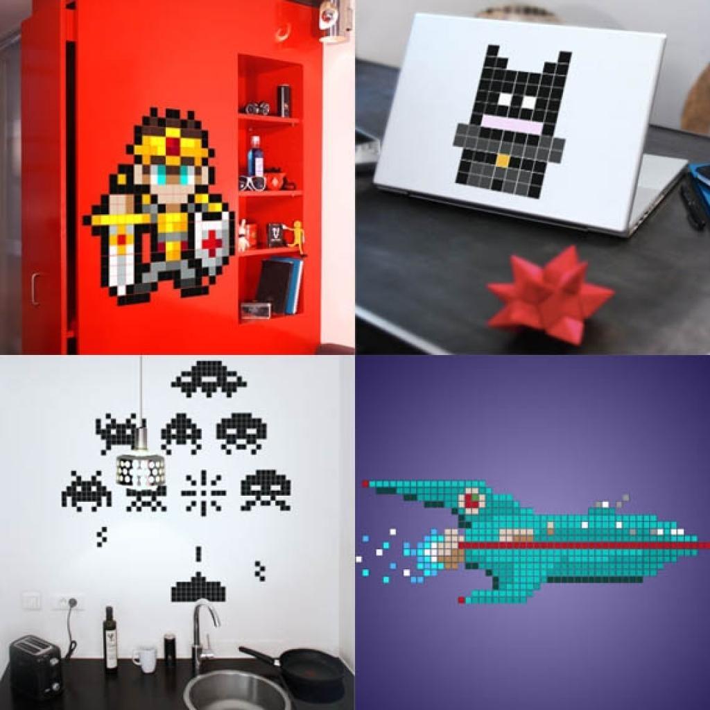 Pixel Wall Art Wall Art Pixel Art Arcade 8 Bit Sprites Vinyl Wall With Regard To Arcade Wall Art (Image 12 of 20)