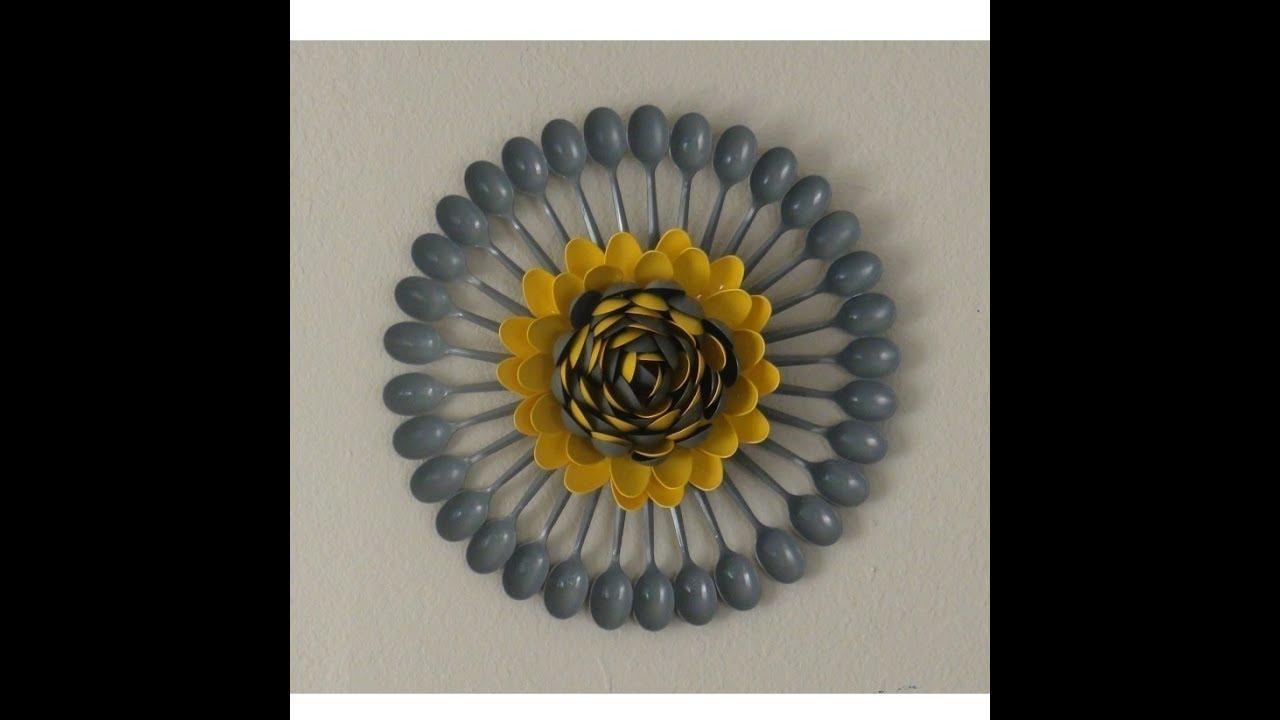 Plastic Spoons Centerpiece / Multicolored Plastic Spoons Wall Art For Plastic Spoon Wall Art (Image 14 of 20)