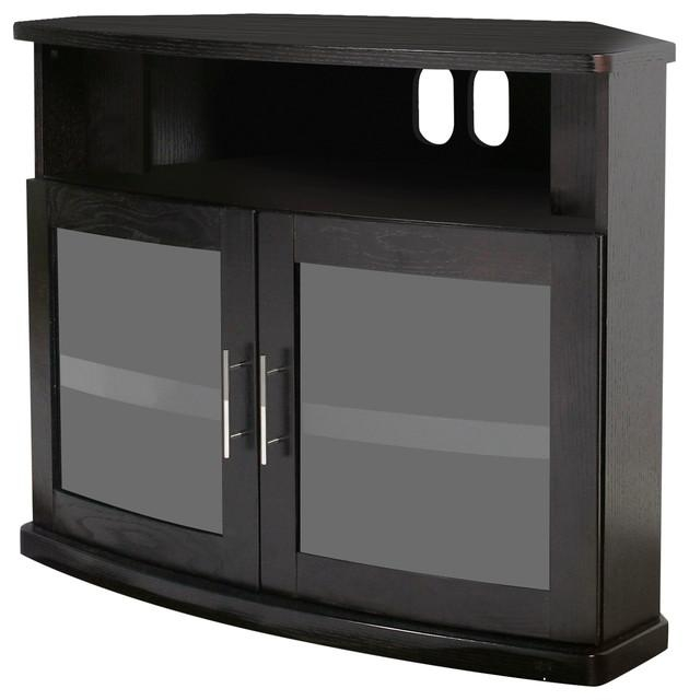 Plateau Newport Corner Tv Stand – Transitional – Entertainment Within Most Recent Black Corner Tv Cabinets (Image 14 of 20)