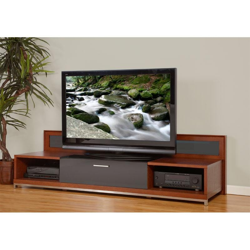 Plateau Valencia Series Backlit Modern Wood Tv Stand For 51 80 With Most Recent Contemporary Wood Tv Stands (Image 16 of 20)