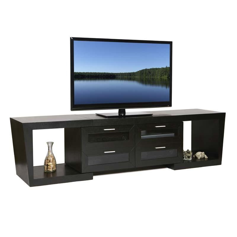 Plateau Valencia Series Expandable Wood Tv Stand For 51 87 Inch Within Recent 80 Inch Tv Stands (Image 13 of 20)