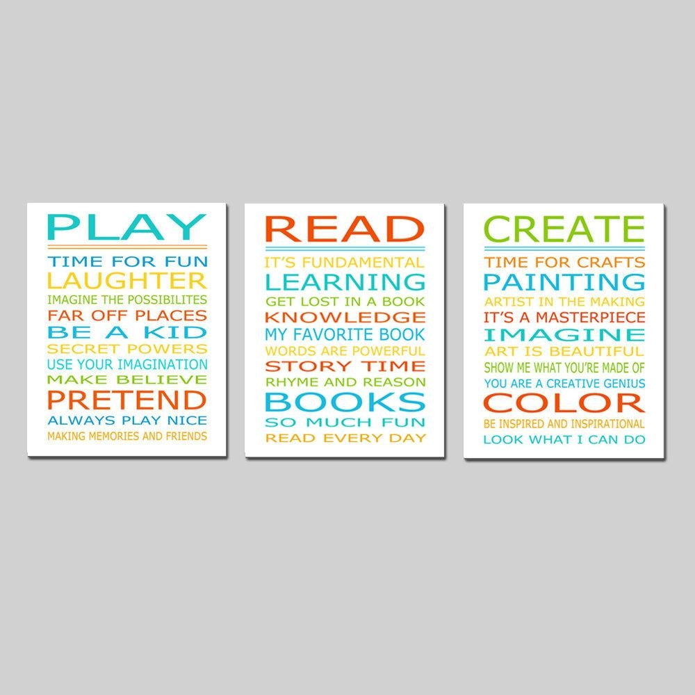 Playroom Rules Playroom Decor Playroom Wall Art Playroom Art For Playroom Rules Wall Art (Image 13 of 20)