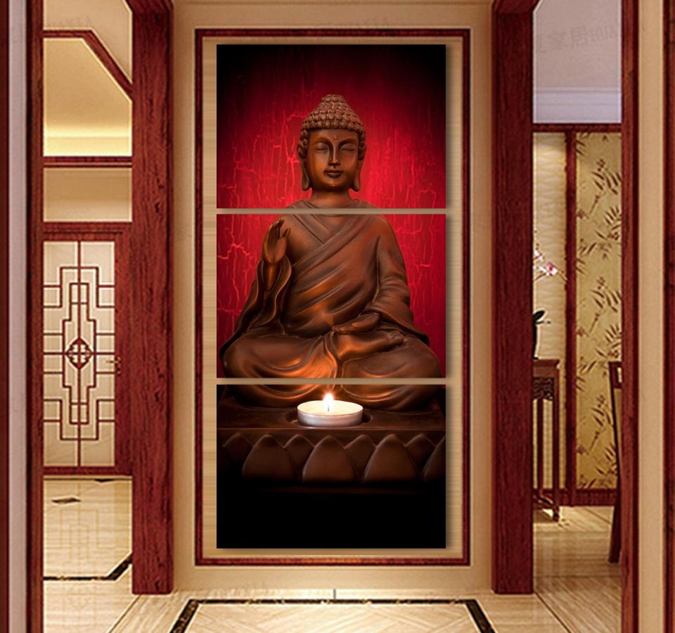 Popular Canvas Buddha Wall Painting Buy Cheap Canvas Buddha Wall Within Outdoor Buddha Wall Art (Image 10 of 20)