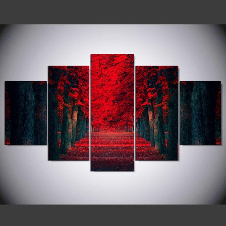 Popular Red Black Canvas Prints Buy Cheap Red Black Canvas Prints Inside Red And Black Canvas Wall Art (Image 17 of 20)
